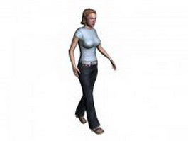 Sexy woman 3d model preview