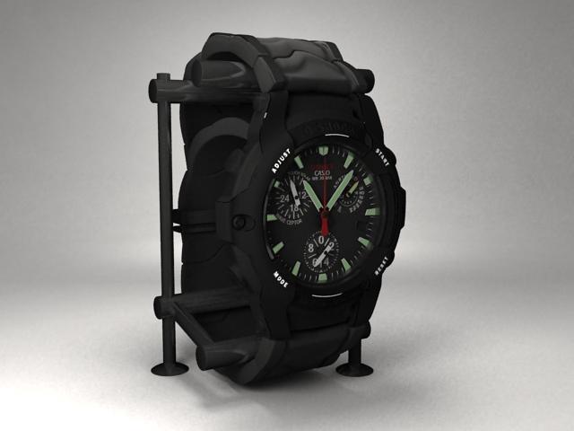 Casio G-Shock watch 3d rendering
