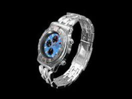 Fashionable wristwatch 3d model preview