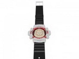 G-Shock wristwatch 3d model preview