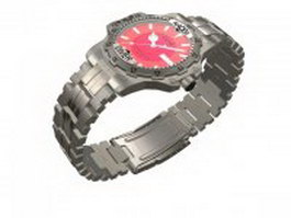 Racer diving watch 3d preview