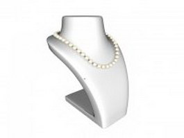 Freshwater pearl necklace 3d preview