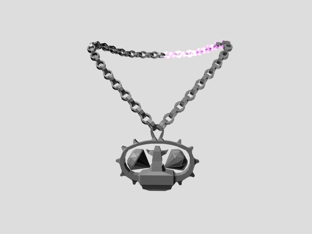 Talisman necklace 3d rendering