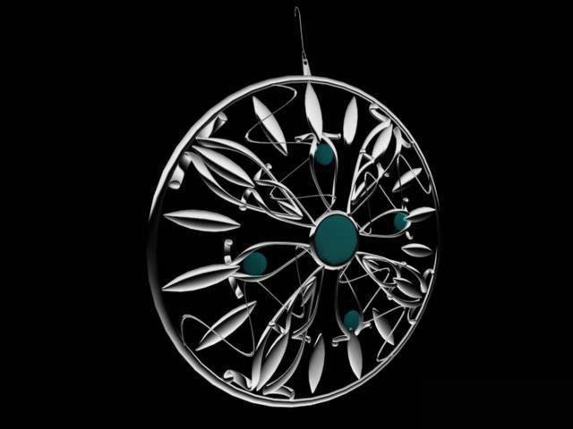 Platinum jewelry earring 3d rendering