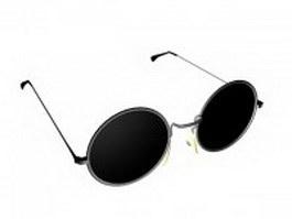 Vintage round glasses 3d model preview