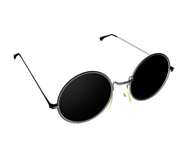 Vintage round glasses 3d rendering