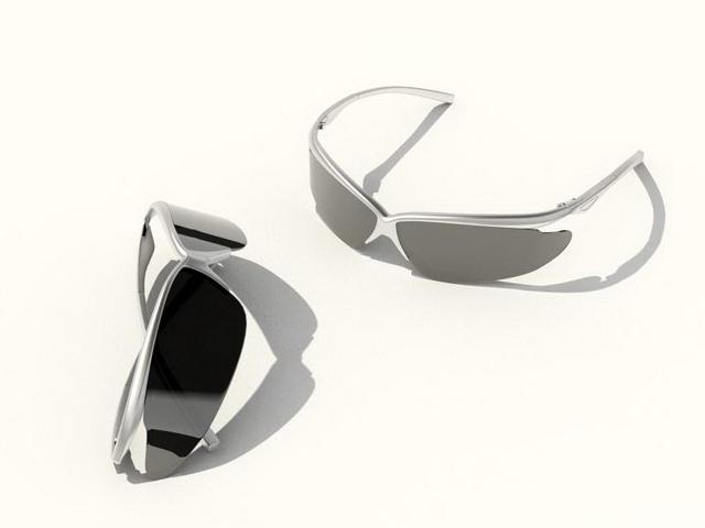 Mens black sunglasses 3d rendering
