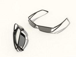 Wrap-around sunglasses 3d preview