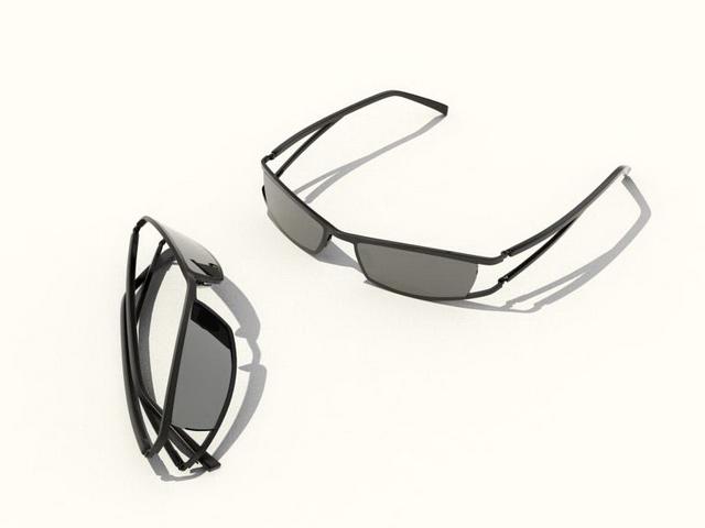 Wrap-around sunglasses 3d rendering