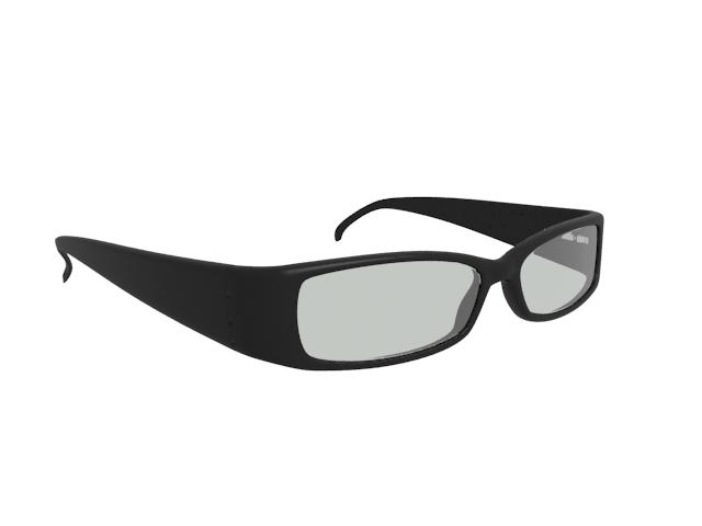 Full rim rectangle eyeglasses 3d rendering