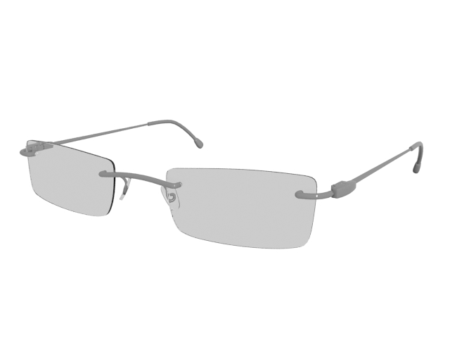 Rimless lightest glasses 3d rendering