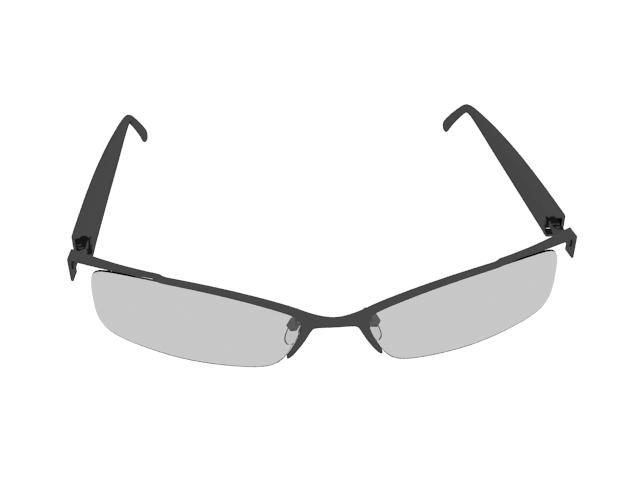 Browline glasses 3d rendering