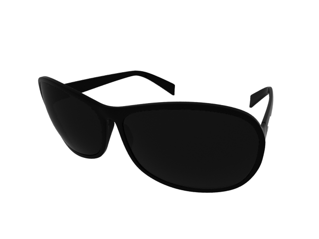 Wayfarer sunglasses 3d rendering
