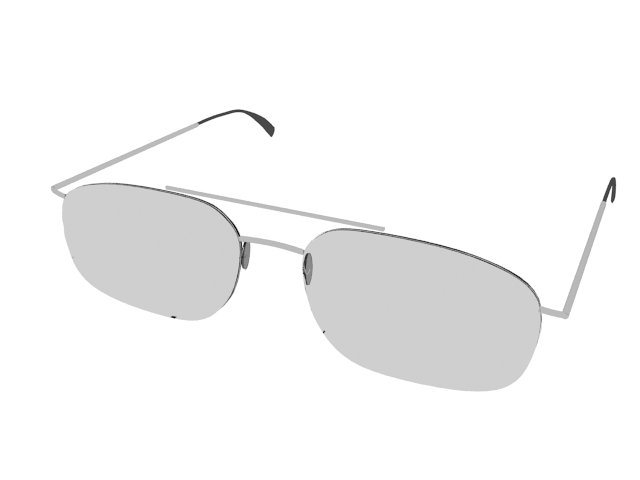 Aviator sunglasses 3d rendering