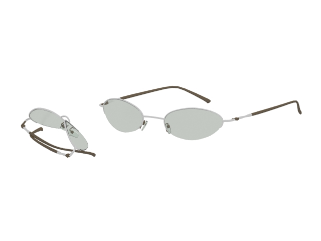 Ray Ban oval sunglasses 3d rendering