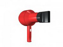Hair dryer 3d preview