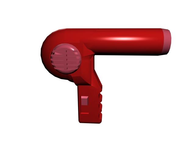 Professional salon hair dryer 3d rendering