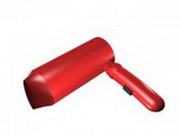 Flat hair dryer 3d model preview