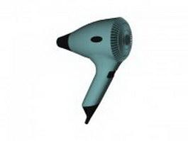 High power hair dryer 3d model preview