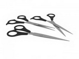 Hair scissors set 3d preview