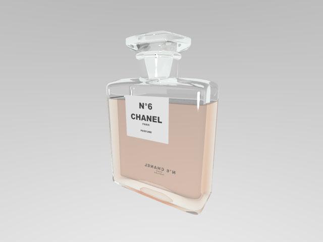 Chanel No5 Fragrance 3d rendering