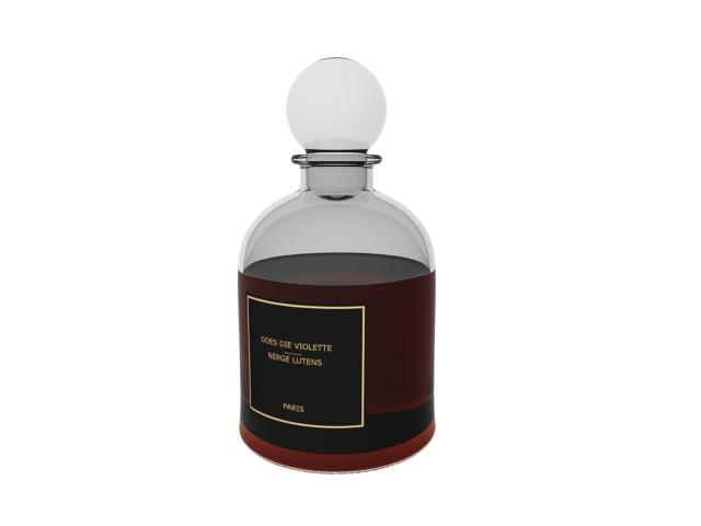 Serge lutens perfume 3d rendering