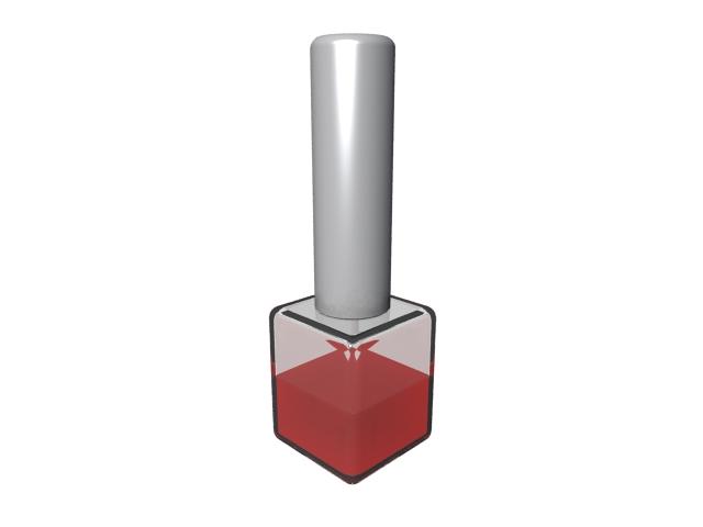 Nail polish bottle 3d rendering
