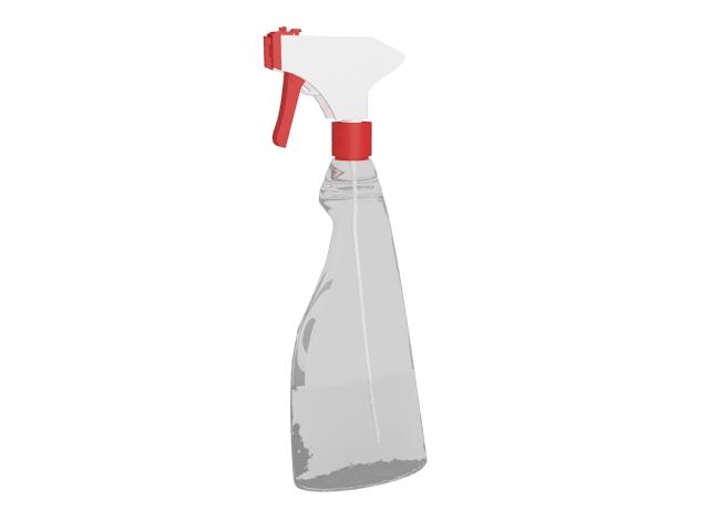 Hair gel bottle 3d rendering