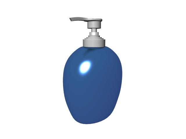 Liquid hand soap bottle 3d rendering
