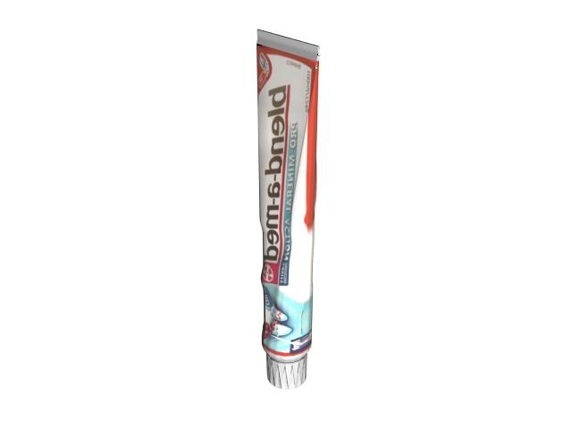 Modern toothpaste 3d rendering