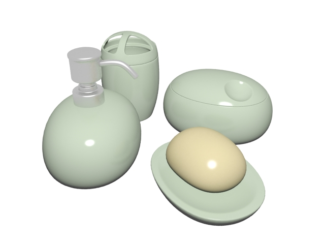 Personal hygiene products 3d rendering