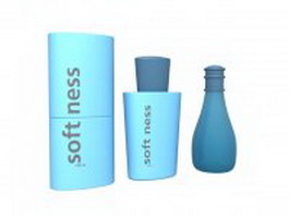 Softness shampoo set 3d preview