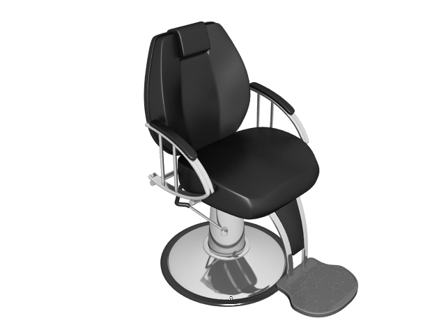 Classic barber chair 3d rendering