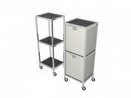 Salon SPA trolley storage cart 3d preview
