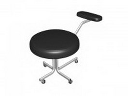 Beauty salon stool 3d preview
