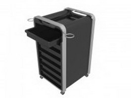 Beauty salon utility cart 3d preview