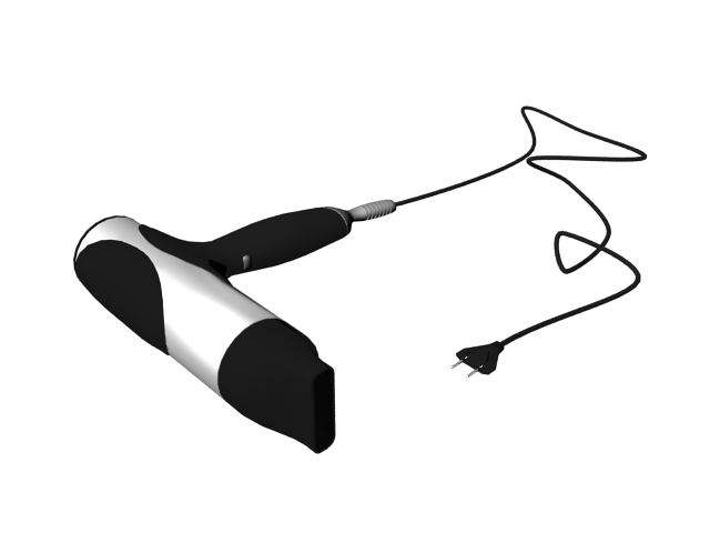 Professional hair dryer 3d rendering