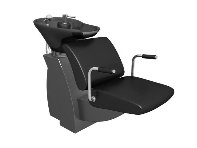 Hair salon shampoo chair 3d rendering