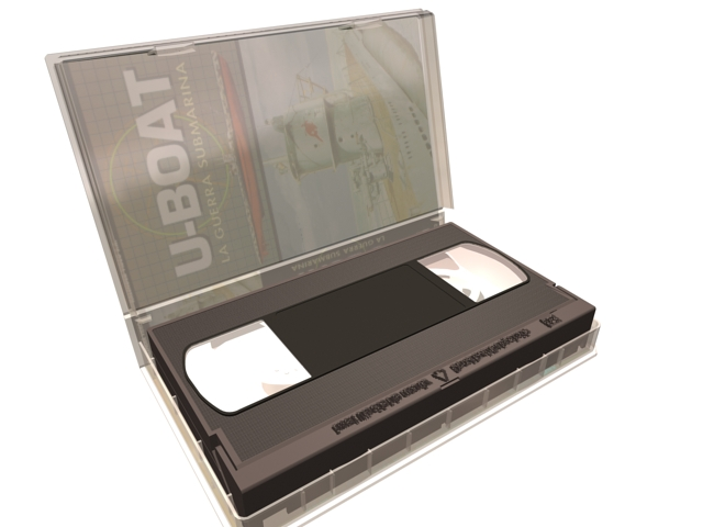 VHS video tape 3d rendering