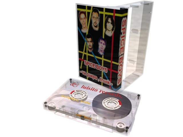 Audio cassette tape 3d rendering
