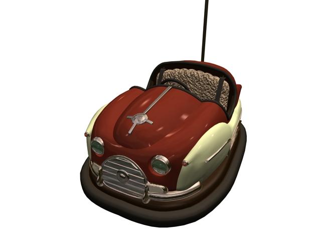Bumping car 3d rendering