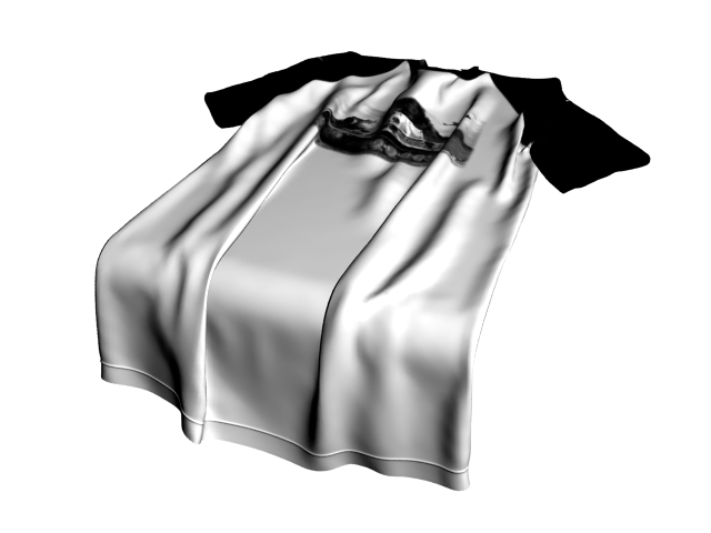 T shirt on table 3d rendering