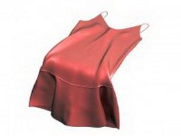 Silk slip dress 3d preview