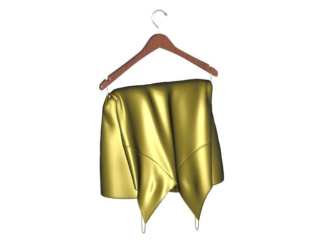 Silk harness pajamas 3d rendering