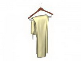 Dress on hanger 3d preview