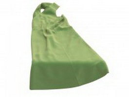Apple green prom dress 3d preview