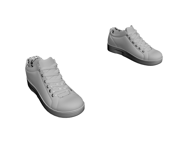 Racing flat shoes 3d rendering