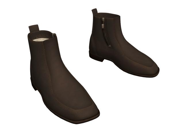 Dress boots for men 3d rendering