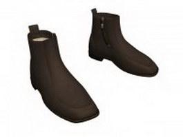 Dress boots for men 3d model preview