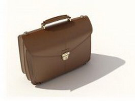 Leather briefcase 3d preview